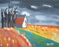 """Gloomy Crops, Diane Dyal, Acrylic, 16""""x20"""", 2009"""