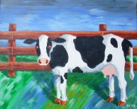 "Holy Cow, Diane Dyal, Acrylic, 16""x20"", 2012"