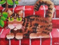 "Kittilea is Home, Diane Dyal, Acrylic, 11""x14"", 2014"