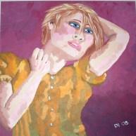 "Model Portrait, Diane Dyal, Acrylic, 24""x24"", 2008"