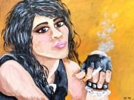 "Punky Girl, Diane Dyal, Acrylic, 18""x24"", 2015"