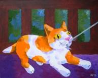 "Tug o War, Diane Dyal, Acrylic, 16""x20"", 2013"