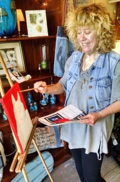 Diane Painting Dyna inside Jazz