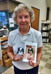 Margaret with Mini Dog