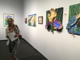 Iris Painting with Award