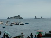 Of the coast in Acireale