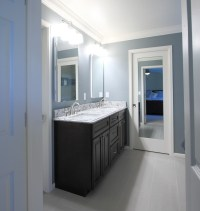 From Builder Blah to Beautiful  Stapleton Master Bath ...