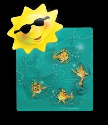 Fun in the Sun shirt design - Airbrush Colored Pencil & Photoshop   Diane Gronas