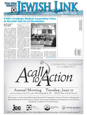 B1. UNM's GSA Votes to Rescind Anti-Israel Resolution p1of2 jun_jul_2014_Page_1