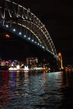 Harbour Bridge and Luna at night