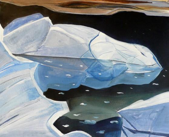 Nigrescent Night Berg Syd Kap Scoresby Sound Eastern Greenland 18x24
