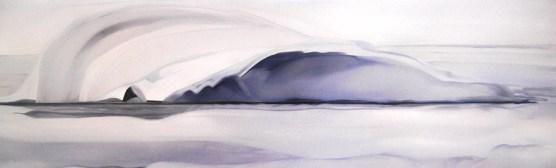 Snail Iceberg Davis Strait 16x48 - Oil on Canvas