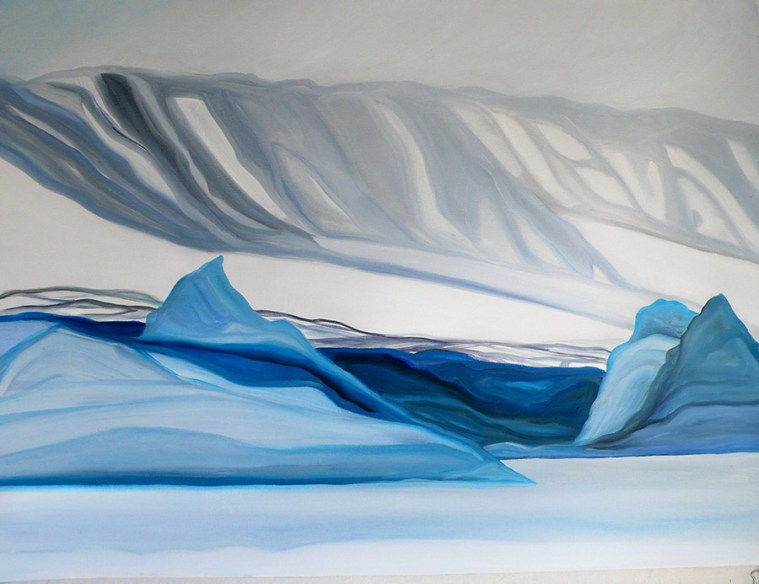 Sketch for Last Night Scoresby Sound Eastern Greenland 18x24
