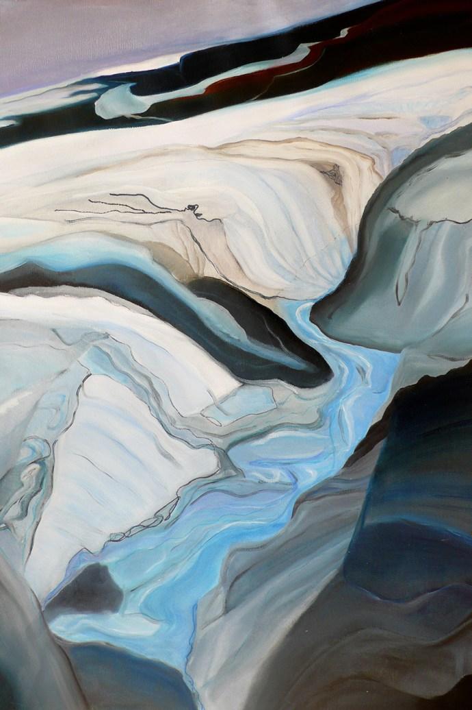 Glacier Run Off Iceland 18x24