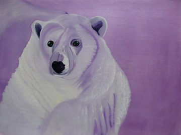 52 Perplexed Purple Bear 18x24