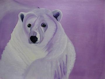 52 Perplexed Purple Bear 18x24