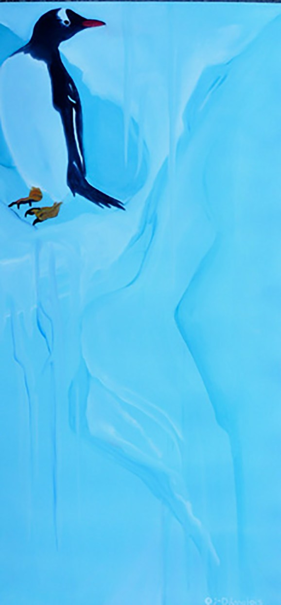 Gentoo Oh Oh Antarctica Peninsula 20x40