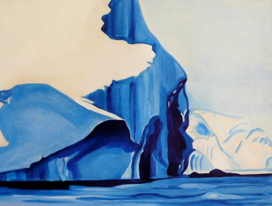 Sketch for Bergs on the Way Ilulissat Western Greenland 18x24