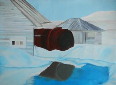 Teplitz Bay Soviet Union Weather- Station Franz Josef Land-18x24