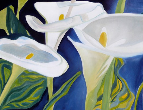 Blanca's Calla Lilies 18x24