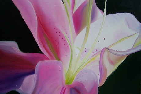 Twisting Lilly 36x48