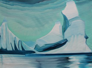 Fantasy Iceberg in Green Amundsun Sea 18x24
