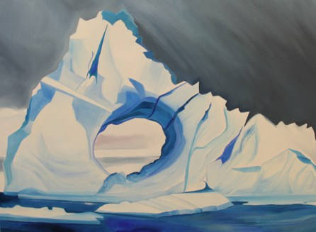 Iceberg Tunnel Weddell Sea-36x48