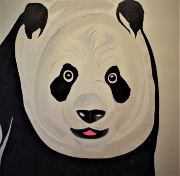 Panda 36x36 Mixed Media China