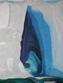 The Ice Cave Mixed Media 48x36 Amundsen Sea Antarctica