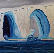Tripple Tunnel Iceberg Amundsen Sea 36x36