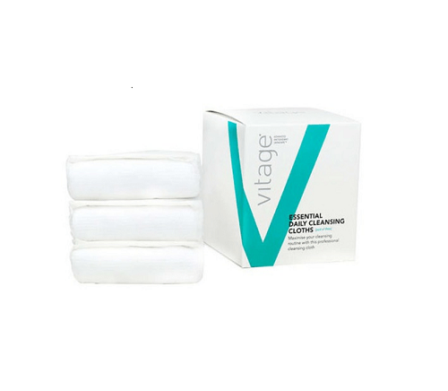 Vitage Daily Cleansing Cloths - Double sided facial cleansing cloths (Pack of 3)