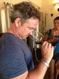 My friend Charlie is a huge wine snob! haha.