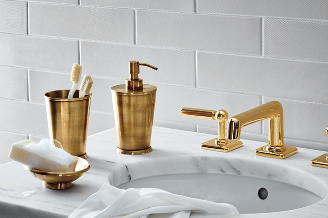Waterwork's Ludlow Collection in Brass