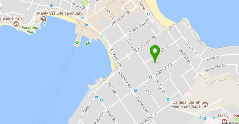 4 cliff Street Manly - map