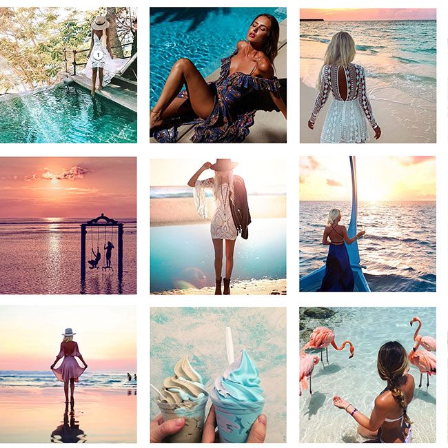 "Instagram Post theme  3 x 3 grid ""Tropical"""