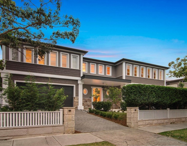 Dream Hamptons Style Home in Mosman - Street frontage