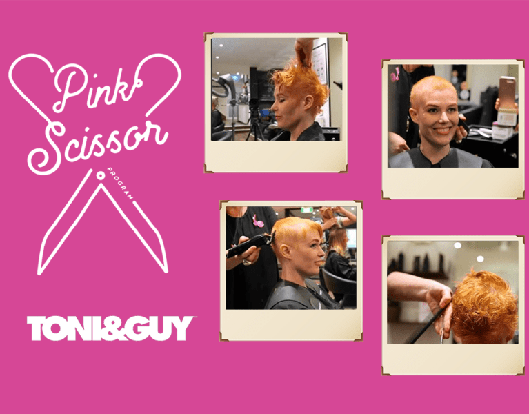 pink scissor program toni-guy