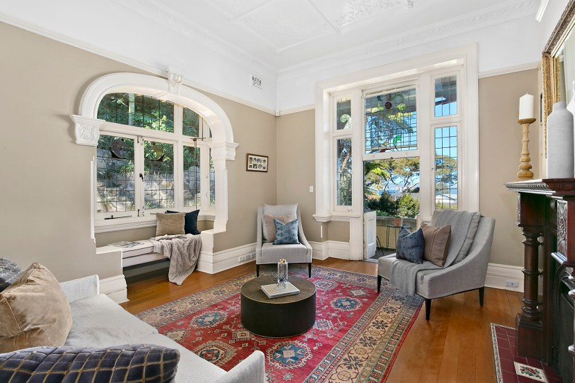 Souring ceilings and elegant arched windows