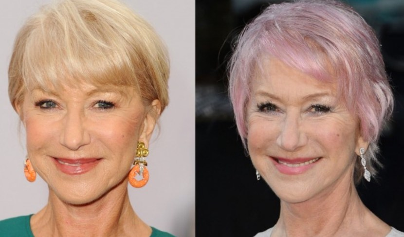 Is Helen Mirren's Hair your cup of tea? source: Sixty and Me for breast cancer charity