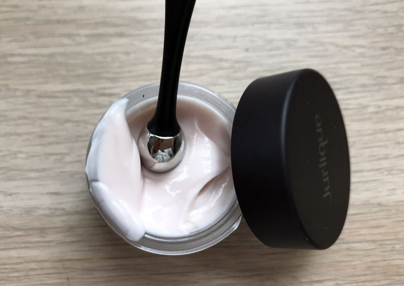 Close up of the Eye cream showing the applicator, which being metal stays cool and soothes the delicate eye area.