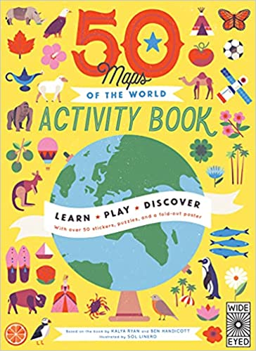 50 Maps of the World Activity Books