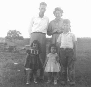Copy of Vintage photos - Family of 5 - mid 50's