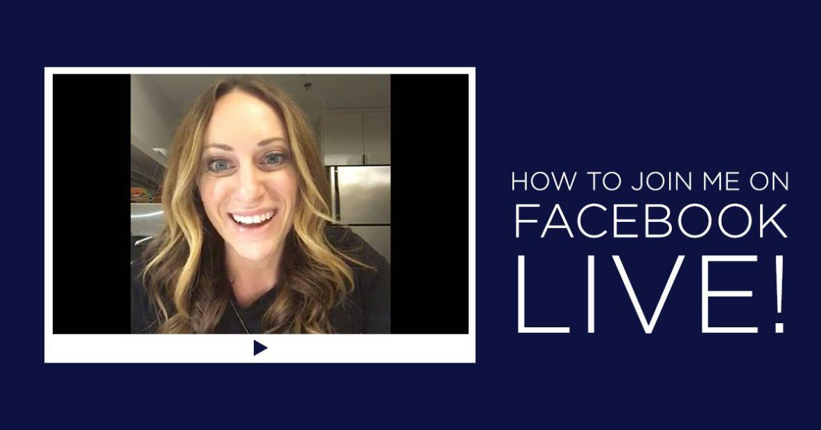 How to join me LIVE on Facebook | Diane Sanfilippo