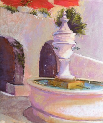 The Fountain—plein air study