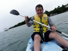 Aaron on the kayak