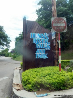 The sign outside the park