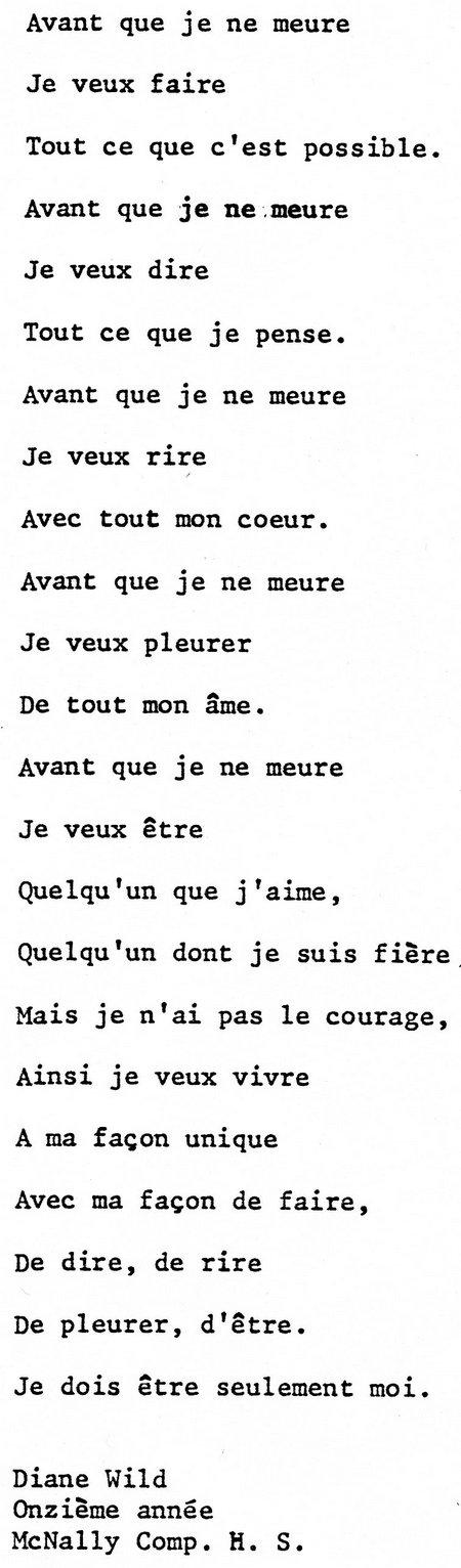 Le poème de Diane