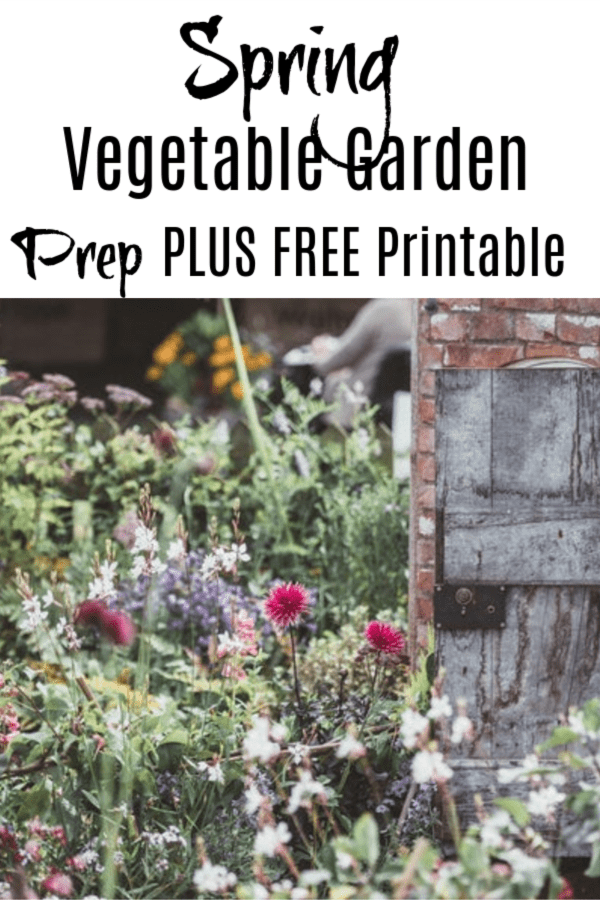 Spring vegetable garden prep plus free printable