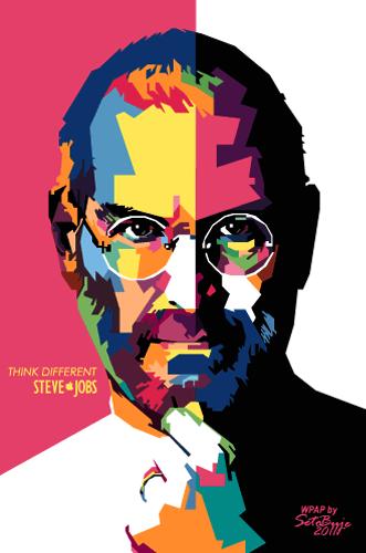 Foto WPAP Steve Jobs