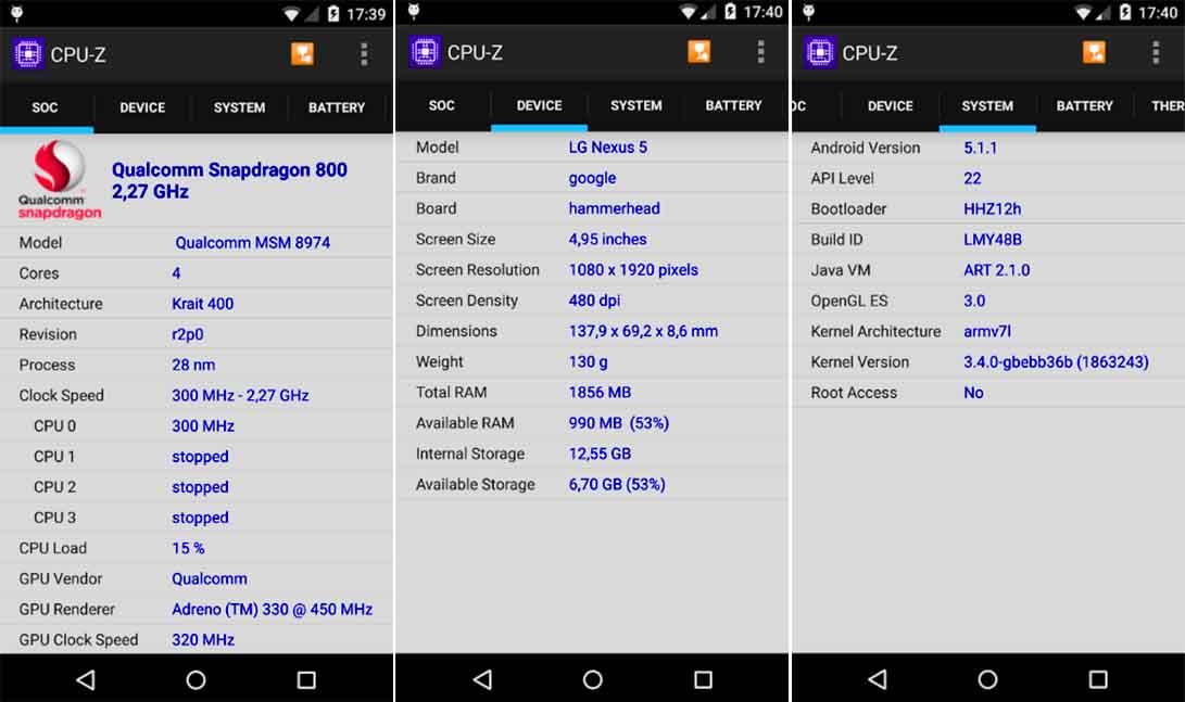 Cara Cek Chipset dan Sesifikasi Android Dengan CPU-Z